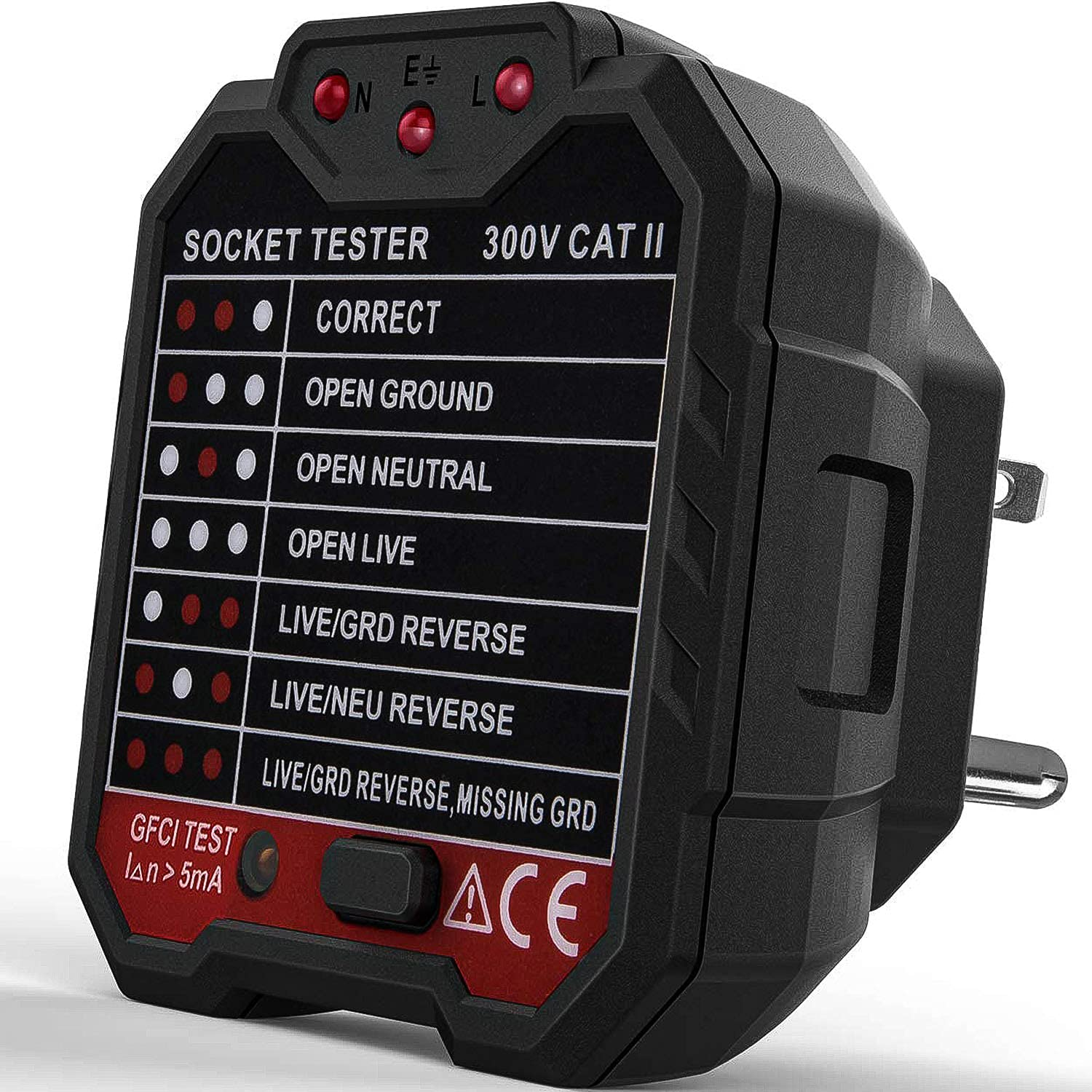 Challenge the lowest price of Japan ☆ Socket Tester ToHayie GFCI 90V-120V Tampa Mall Automatic Vol Outlet