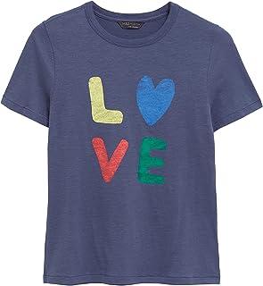 Marks & Spencer Women's Pure Cotton Love Slogan Crew Neck T-Shirt