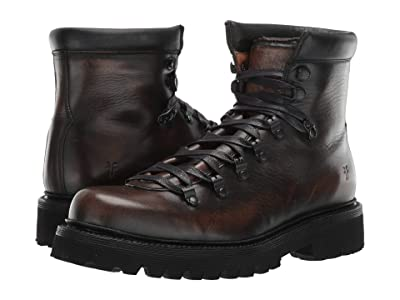 Frye Woodson Hiker (Black Brush-off Full Grain) Men
