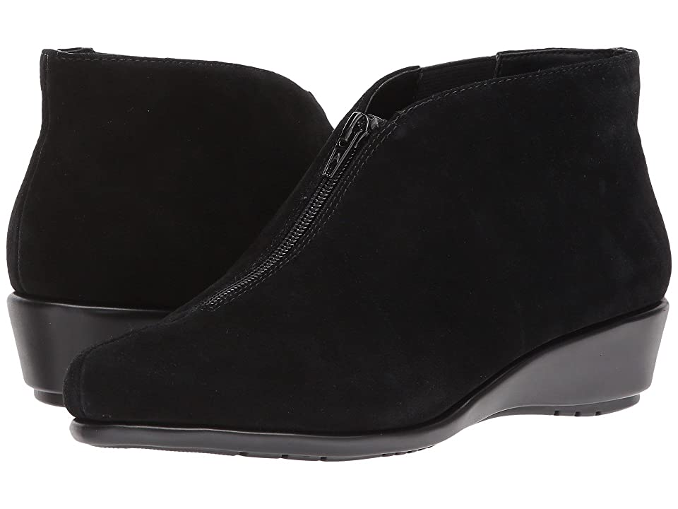 Image of Aerosoles Allowance (Black Suede) Women's Wedge Shoes