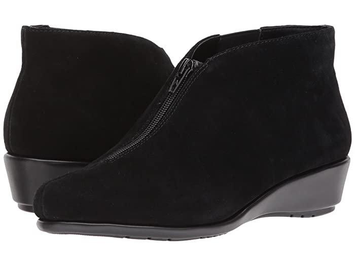 Aerosoles  Allowance (Black Suede) Womens Wedge Shoes