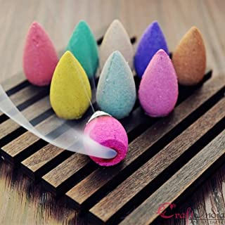 eCraftIndia Pack of 30 Backflow Incense Cones in Rose, Jasmine and Lavender Scent for Backflow Incense Burners (IBFCSO30)