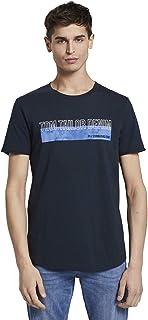 Tom Tailor Men's Batik Chest Print T-Shirt