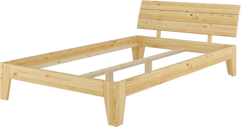 Erst-Holz Futonbett Einzelbett überlnge 120x220 Jugendbett Kieferbettgestell ohne Rollrost 60.62-12-220 oR