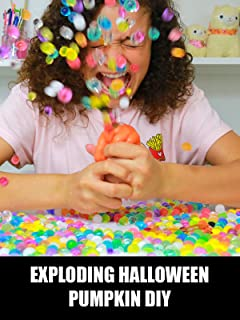 Exploding Halloween Pumpkin DIY