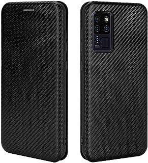 GOGME Case voor OUKITEL C21/C21 Pro Flip Wallet Cover met [Card Slots], Anti-Kras Carbon Fiber PC + Shockproof TPU Inner B...