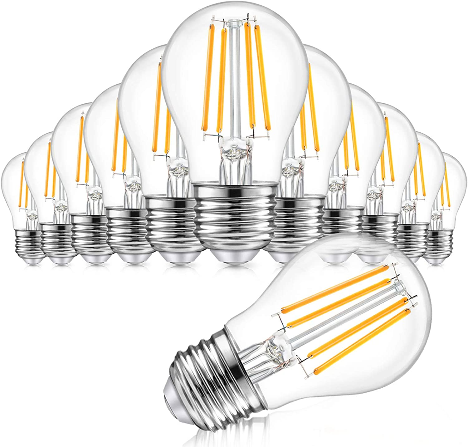 Max 78% OFF 12-Pack Dimmable Globe A15 LED Columbus Mall Equivalent Vintage 60W Bulbs 6W