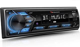 Nakamichi NQ711B Bluetooth Car Digital Media MP3 Player Stereo Receiver with Built-in Bluetooth Hands-Free Calling Music Streaming USB AUX Inputs with Detachable Front Panel