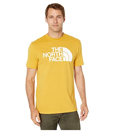 The North Face Short Sleeve Half Dome T-Shirt (Golden Spice/TNF Whiite) Men