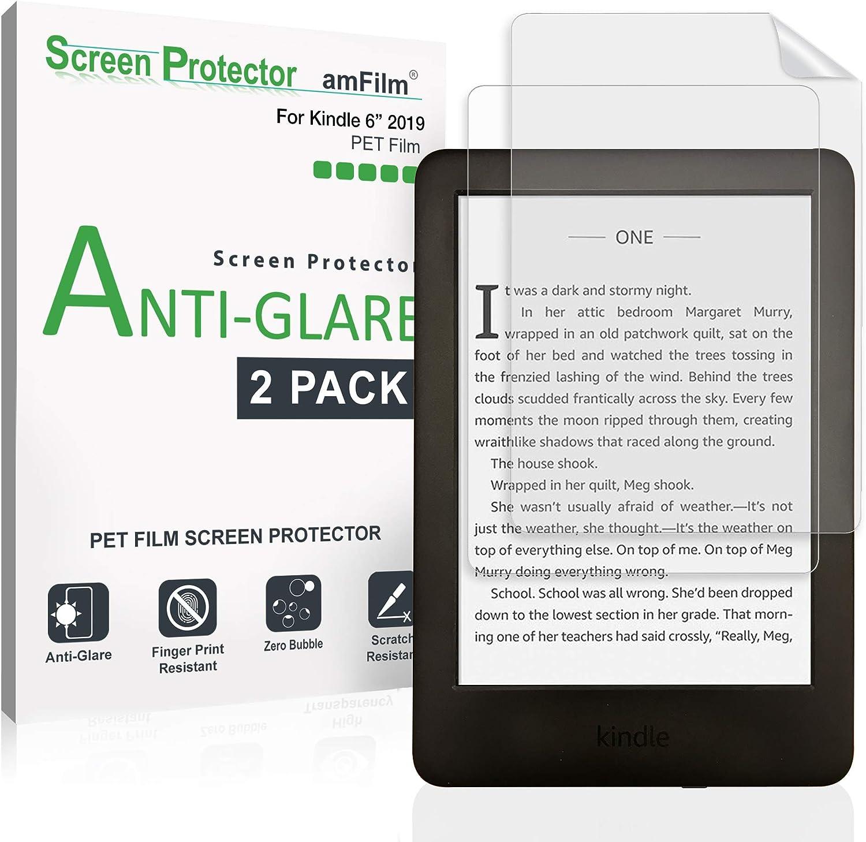 Kindle Screen Protector, amFilm® Kindle Anti-Glare/Anti-Fingerprint (Matte) Premium Screen Protector for Kindle, Kindle Paperwhite, Kindle Paperwhite 3 and Kindle Touch (2-Pack) [Lifetime Warranty]