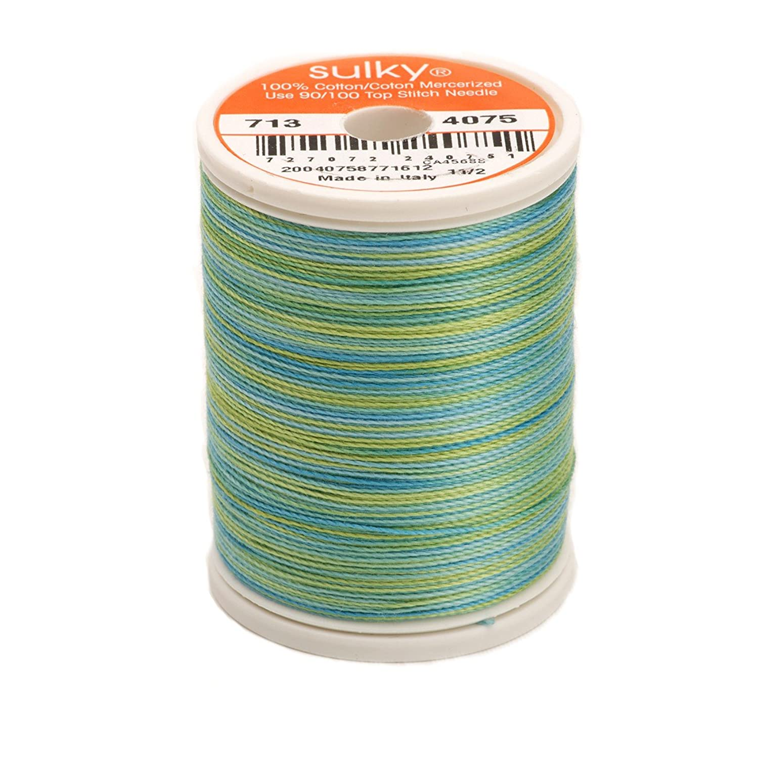 Sulky 713-4075 12-Weight Cotton Blendable Thread, 330-Yard, Celadon