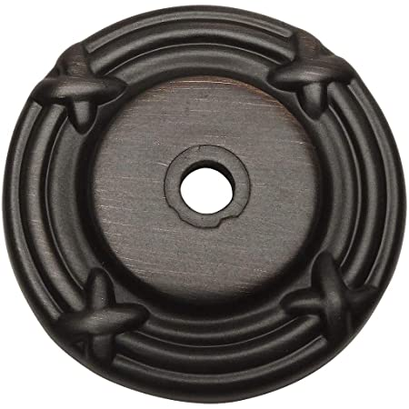 10 Pack - Cosmas 9468ORB Oil Rubbed Bronze Cabinet Hardware Knob Backplate/Back Plate