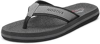 NORTIV 8 Men's Flip Flops Thong Sandals Comfortable Light Weight Beach Sandal