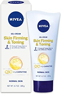 NIVEA Skin Firming & Toning Body Gel-Cream - With Q10 For Normal Skin - 6.7 oz. Tube