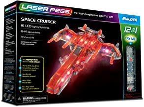 Laser Pegs Space Cruiser 12-in-1 Building Set; The First Lighted Construction Toy to Ignite Your Child's Creativity; It's Your Imagination, Light It Up