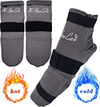 HiFineCare Cold Therapy Socks (w/Compression Strap) - Ice Pack Socks Cooling Socks Gel Ice Treatment for feet, Heels, Swelling, Arch Pain,Gray,1 Pair