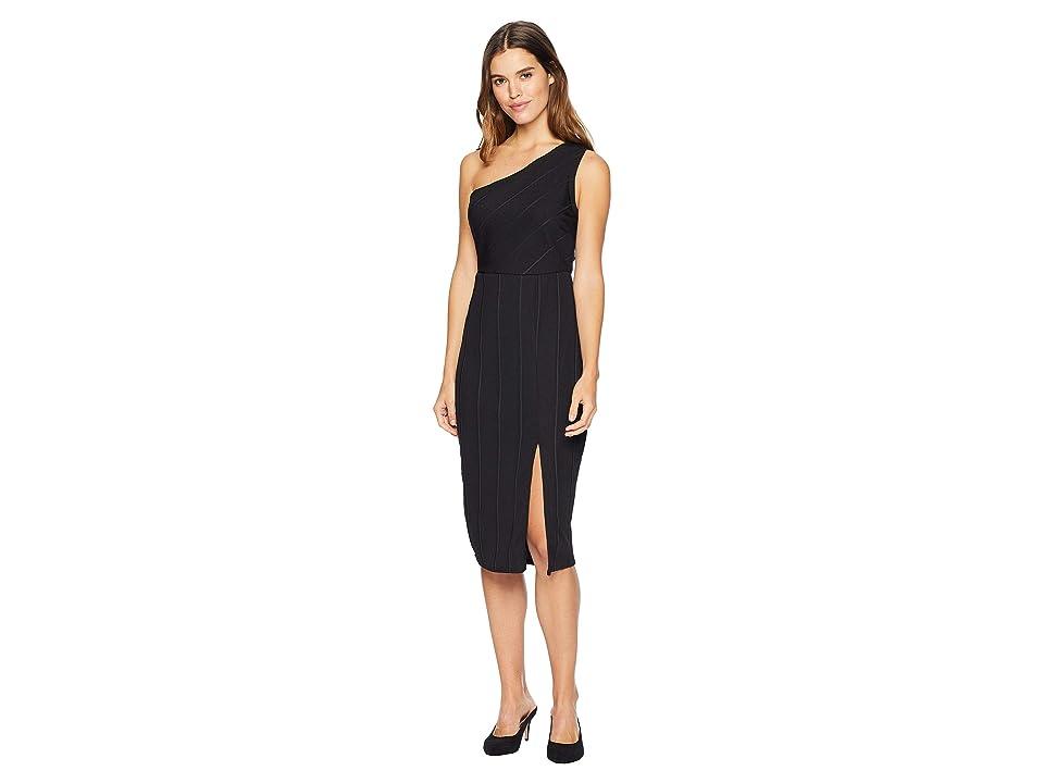 BCBGeneration One Shoulder Midi Dress (Black) Women