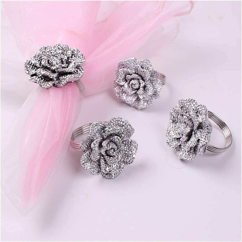 WODEJIA Ranking TOP14 12pcs lot Wedding Ring Daily bargain sale Napkin Rose
