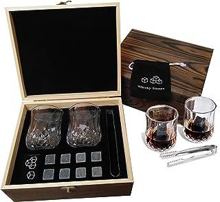 Whiskey Stones Gift Set, Cool Unique Birthday Gifts Ideas for Him Boyfriend Husband, Christmas Anniversary Wedding Retirem...