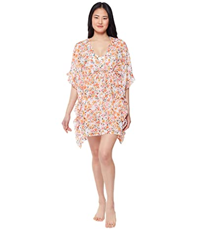 Jessica Simpson Summer Dreaming Frill Side Chiffon Cover-Up