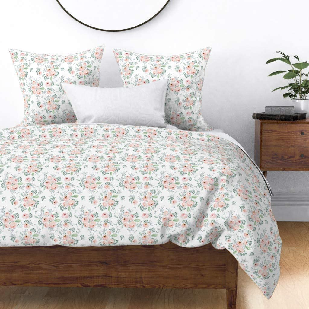 Roostery Duvet Cover Ranking Tampa Mall TOP4 Watercolor Roses Pink Flowers Botan Floral