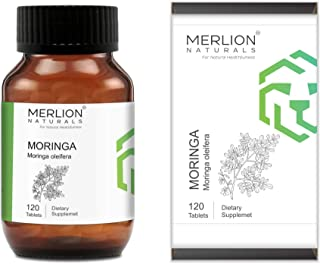 Merlion Naturals Moringa Tablets ( Moringa oleifera ), All Natural, Pure Herbs 500mg x 120 Tablets