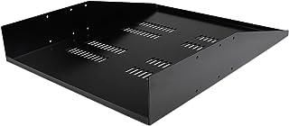 StarTech.com 2U 150lbs / 68kg Vented Rack Mount Cantilever with Center Mount Sever Cabinet 2 Post Shelf - CABSHF2POSTV