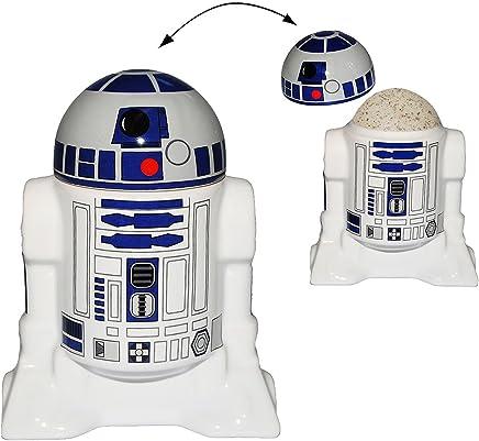 Preisvergleich für Unbekannt Eierbecher mit Deckel - Star Wars - R2-D2 - Porzellan / Keramik - Eier Halter - für Erwachsene & Kinder - Roboter Droide - Starwars Clone - Eierwärmer - K..