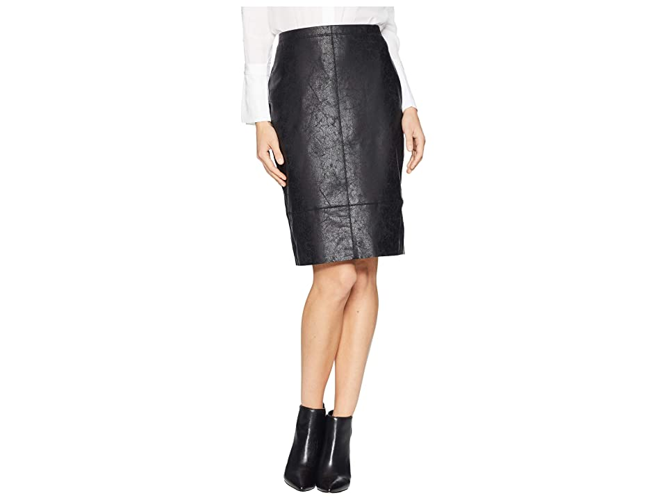 Karen Kane Faux Leather Skirt (Black) Women's Skirt