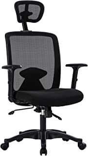 Novelland Ergonomic Desk Chair Adjustable Swivel Office Chair Mesh Armrest Computer Task Chair