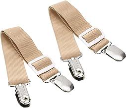 Mini Skater 2Pack Bed Sheet Suspenders Adjustable Elastic Bed Sheet Clip Mattress Cover Corner Holder Clip Fasteners Strap...