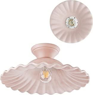 VANNI LAMPADARI - Lampada da Soffitto e da Parete Art.002/450 Diametro 40 in Ceramica Decorata in 5 Colori Pastello Indele...
