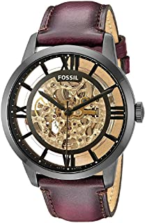 [フォッシル] FOSSIL 腕時計 Townsman Automatic Brown Skeleton Dial Men's Watch メンズ ME3098 [並行輸入品]