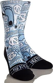 Rock'em Apparel University of North Carolina Tar Heels Custom Athletic Crew Socks