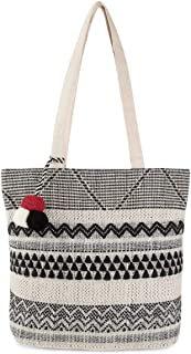 Alii And Aliizey Jacqaurd Canvas Shoulder Tote Bag for Women (6212)