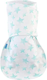 Tommee Tippee Groswaddle Newborn Baby Cotton Hip-Healthy Swaddle Alternative - Star Bright - Birth to 12lbs, White, 0-3 Months
