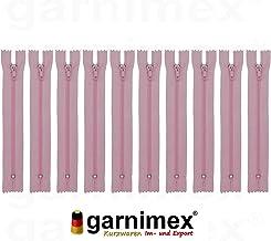 011-020 garnimex Lot de 10 Fermetures /Éclair Non s/éparables 18 cm 10 Couleurs