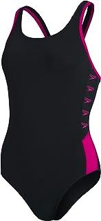 Speedo Women's Boom Logo Splice Muscleback Swimsuit