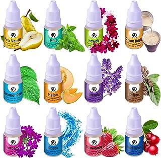 Soap Making Scents - Set of 12 Premium Grade Fragrance Oils - Baked Milk, Coffee, Hawaii, Lavender, Melon, Mint, Ocean, PE...