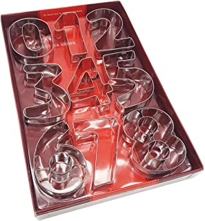 Kanntie Number Cookie Cutter Set - 9 Piece Large Size– Premium Stainless Steel
