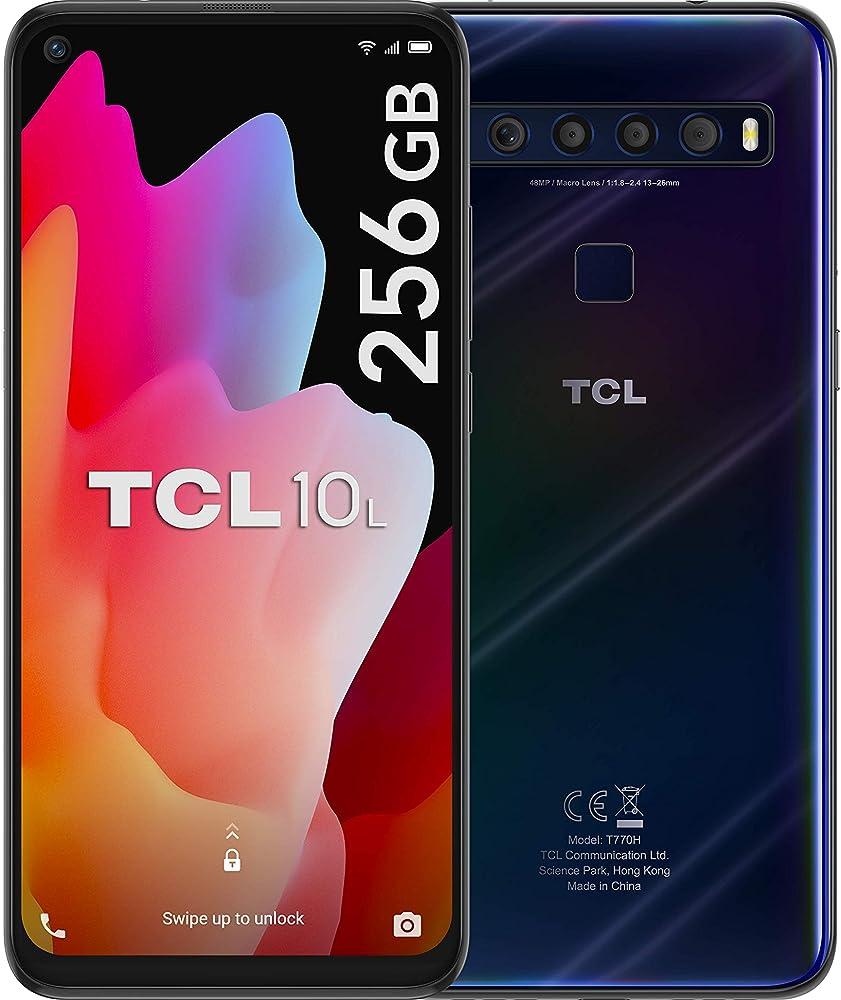 Tcl 10l, smartphone 256gb, 6gb ram, dual sim, mariana blue T770H-2ALCWE32
