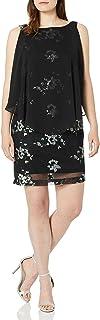 فستان حريمي من Sandra Darren قطعة واحدة من الشيفون اللامع بدون أكمام