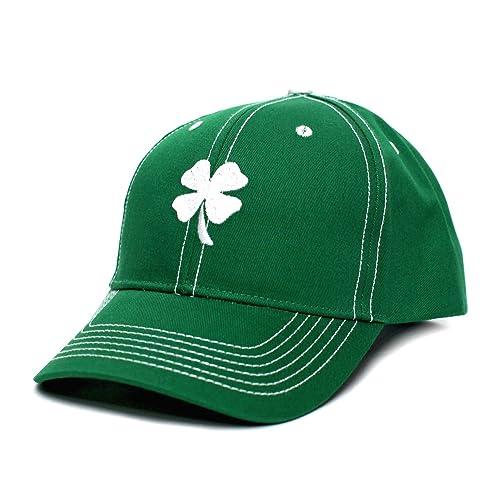 496b61007ab Ireland Irish Shamrock Clover Leaf St Patricks Day Embroidered Hat Cap Green