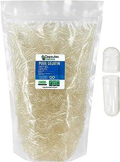 Capsules Express- Size 00 Clear Empty Gelatin Capsules- Kosher - Pure Gelatin Pill Capsule- DIY Powder Filling (5000)