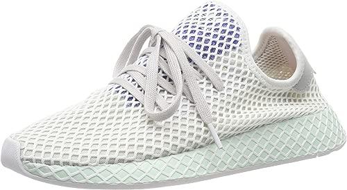 Adidas Herren Deerupt Runner Gymnastikschuhe, grau Weiß Blau Menthe