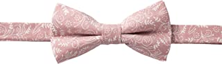 Jacob Alexander Men's Pre-tied Banded Adjustable Floral Bow Tie - Dusty Rose