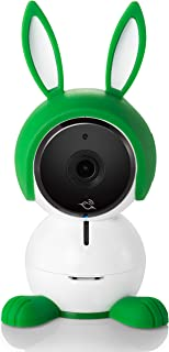 Arlo Baby ABC1000-100EUS - Cámara de seguridad HD 1080p (con carcasa de conejito visión nocturna alertas de movimiento y sonidos sensor de aire batería recargable)