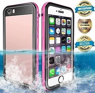 EFFUN Waterproof iPhone 6 Plus/6s Plus Case, IP68 Certified Waterproof Underwater Cover Dirtproof Snowproof Shockproof Case with Cell Phone Holder, PH Test Paper, Stylus Pen and Floating Strap Pink