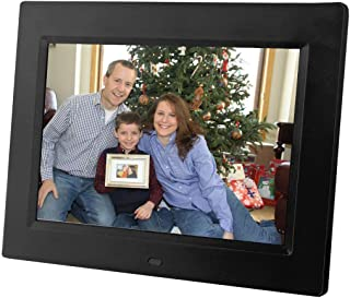 8 inch Digital Photo Frame & Multimedia Player - Display Videos & Photos & Set Music to Play. Includes 4GB Internal Storage, SD Card & USB Connections, a Variety of Transition Effects