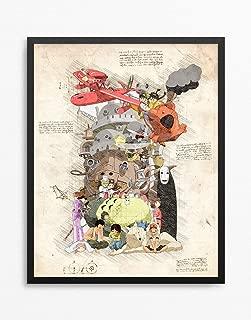 Studio Ghibli Print, Studio Ghibli Poster, Hayao Miyazaki, Anime Print, Anime Poster N.020 (16 x 20 inch)